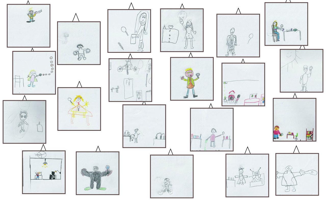 Kinder zeichnen sich beim Forschen